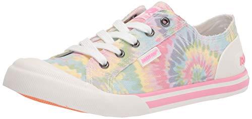 Rocket Dog Women s Jazzin Rainbow TIE DYE Cotton Walking Shoe, PINK MULTI, 11