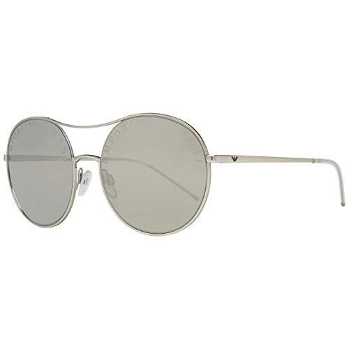 Emporio Armani 0EA2081 Gafas de sol, Matte Pale Gold, 56 para Mujer