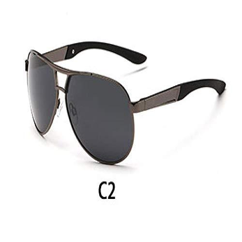 Gafas de Sol Sunglasses Gafas De Sol Polarizadas De Moda Gafas De Sol De Hombre De Marca De Diseñador Retro Nuevas Gafas De Sol De Conducción De Moda Hombre Gunblack