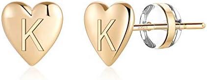 Sterling Silver Post Stud Earrings for Girls S925 Sterling Silver Gold Stud Earrings Letter product image