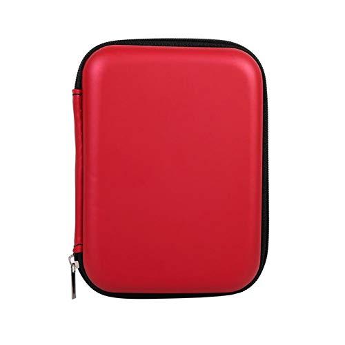 Gmkjh Organizador de Almacenamiento Digital, 3 Colores Accesorios Digitales Cable Organizador de Almacenamiento de Auriculares USB Flash Drive Case Bag Hot(Rojo)