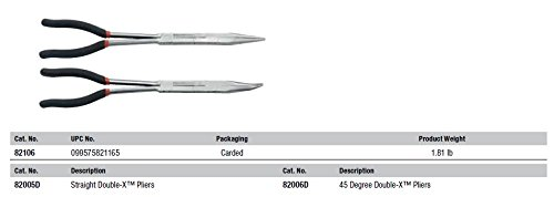 GEARWRENCH Double-X Straight and 45°, 2 Pc. Plier Set - 82106