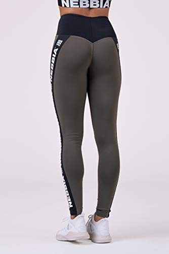 Nebbia, Power Your Hero iconic leggings, scrunch butt effect, contrasting high waist, elastic and flexible material, color Safari, size S