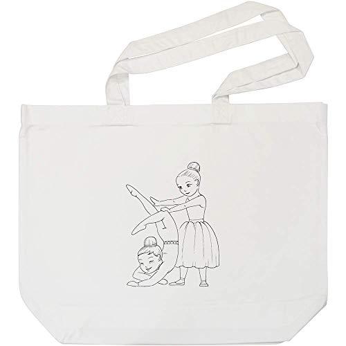 Azeeda Ballerinas Weiße Einkaufstasche (BG00003696)
