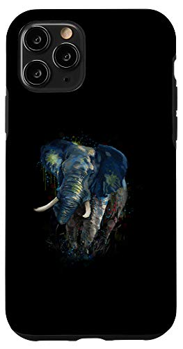 iPhone 11 Pro Elephant Artwork - Cute Big Elephant Artwork Paint Gift Case