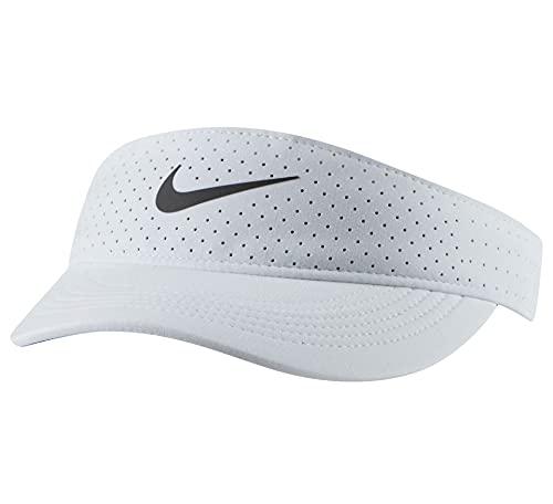 Nike W NIKECOURT Advantage Visor Bandeau pour Temps Froid Homme, White/Black, 1size