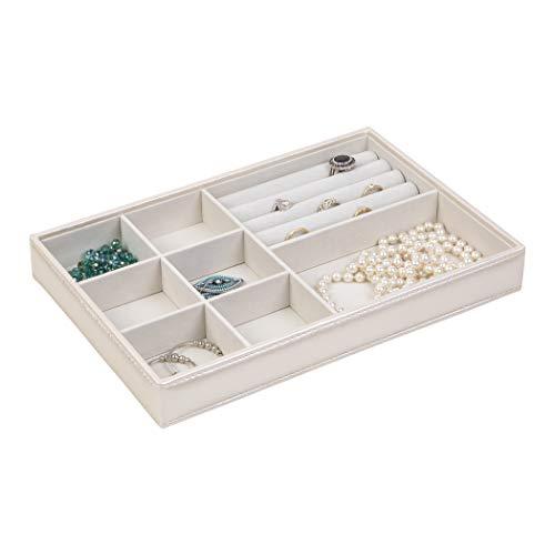 Richards Homewares Jewelry Storage Organizer Tray, 8-Compartment, Champagne