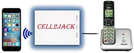 Cell2jack - Cellphone to Home Phone Adapter - Make and Receive Cell Phone Call on Your landline Phone Free