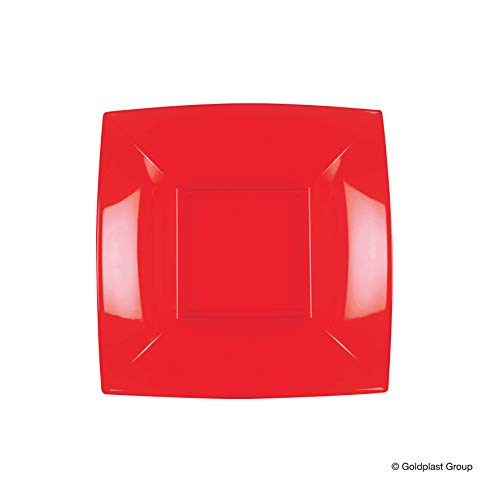 Party Style 8057 – 18PS Assiette en porcelaine rouge