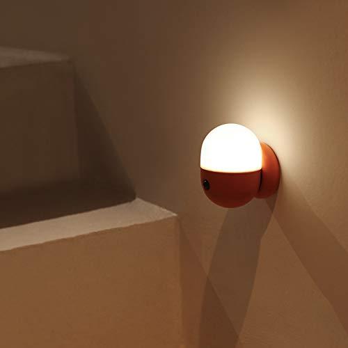 YanBei LED Nachtlicht mit Bewegungsmelder, LED Bewegungssensor Licht,Kinder Baby Nachtlampe,USB Aufladbare Nachtlampe,Für Flur,Schrank,Treppenhaus,Kabinett, Wohnzimmer,Badezimmer,Schlafzimme.(Orange)