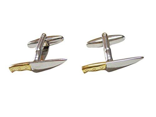 Kiola Designs Gold and Silver Toned Chef Knife Cufflinks