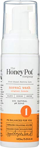 The Honey Pot - Normal Foaming Wash - Feminine Cleanse - 99% Natural - Herbal Formula - NO Artificial Fragrance - Parabens - Carcinogens - Sulfates - Dioxides - 5.5 Fl Oz