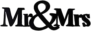 Lasaani Mr. & Mrs ACP Wall Plaque Painted Cutout Stickable Home Decor Wall Art (Glossy Black)