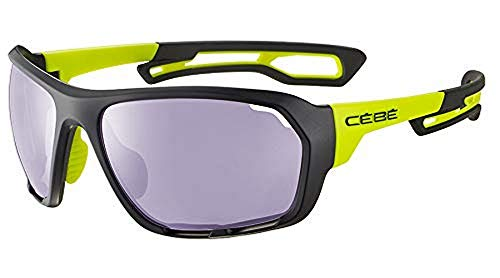 Cébé Upshift Gafas de sol Matt Black Lime Unisex-Adult Large
