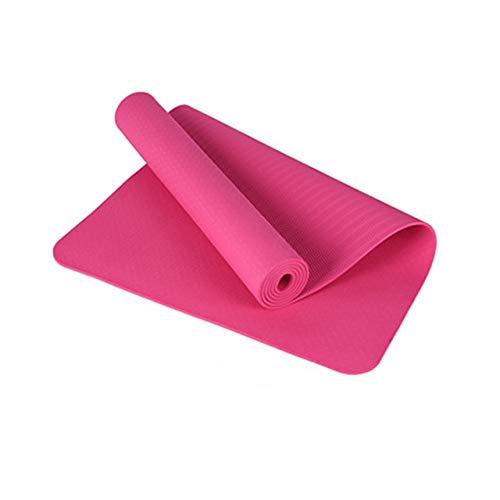 N / A Alfombrillas de Yoga aeróbicas Doble Cara Antideslizante Calidad insípida TPE Almohadillas Gruesas de 6 mm para Gimnasio al Aire Libre en Interiores Ejercicio de Pilates 183x61x0.6CM