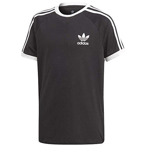 adidas 3Stripes tee Camiseta, Unisex niños, Negro/Blanco, 152 (11/12 años)