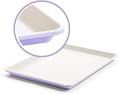 "GreenLife Bakeware Healthy Ceramic Nonstick, Cookie Sheet, 18"" x 13"", Lavender,CC002523-001 (Singlе расk)"