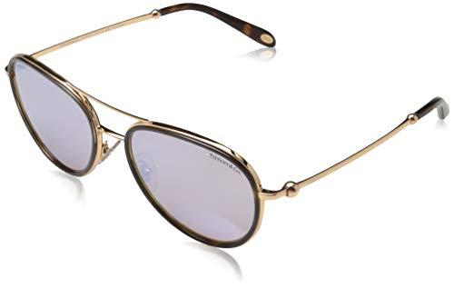 Tiffany & Co. Dames 0TY3059 6126H6 55 zonnebril, bruin (Havana/Polarbrownmirrorwhite)