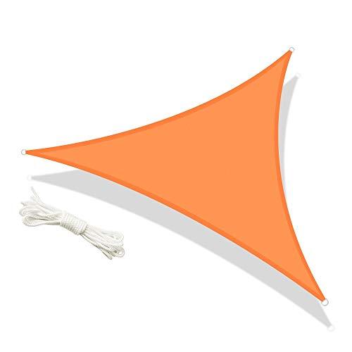 No logo zonnezeil, zonwering, driehoekig, Sun Shade Shelter, 95% anti-uv-zonnescherm, tent, waterdichte overkapping, zonnezeil, tuin, terras, strand, camping, tarps, 7 kleuren