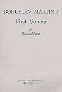 Sonata No. 1. (For Flute & Piano). By Bohuslav Martinu. For Flute, Piano (Flute). Woodwind Solo. 36 Pages.