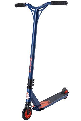 BLUE GORILLAZ Freestyle Stunt Scooter für Kinder ab 8 Jahre, 100mm Kinderroller für Einsteiger, Alu City Kickscooter, Blau