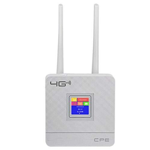 ACAMPTAR Cpe903 3G 4G Hotspot Portatile LTE WiFi Router Porta WAN/LAN Doppie Antenne Esterne Router Cpe Sbloccato con Slot per Schede Sim (Spina Europea)