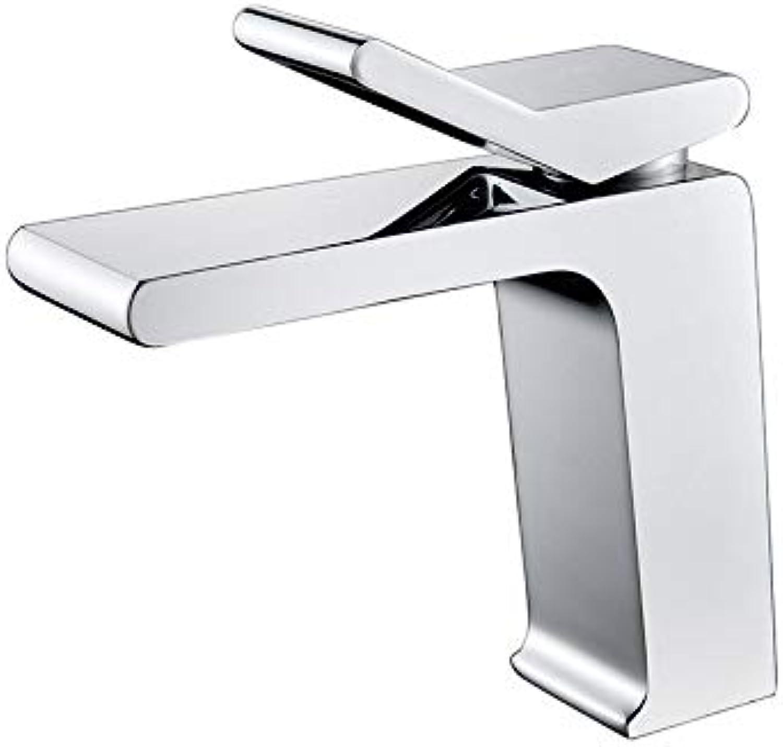 ROTOOY Becken Wasserhahn alle Kupfer Haupthotel heie und kalte quadratische Mode High-End-Becken Becken Wasserhahn