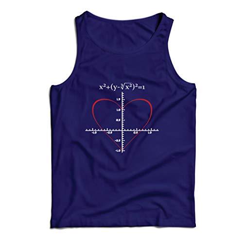 lepni.me Camisetas de Tirantes para Hombre Fórmula de Matemáticas del Amor Ecuación matemática Regalo para el Profesor