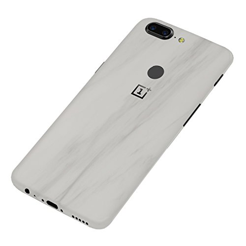 7 Layer Skinz Custom Skin Wrap Compatible with OnePlus 5T (White Marble)