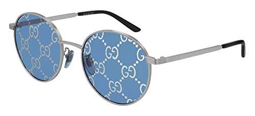 Gucci Gafas de Sol GG0944SA Silver/Blue Silver Logo 55/20/145 unisex