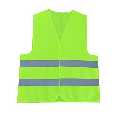 Chaleco reflectante Chaleco de seguridad Fluorescente Amarillo Seguridad Vestido para hombres Mujeres Mujeres de alta visibilidad Chaleco Strips Trabajan como grandes reflectores brillantes de noche o