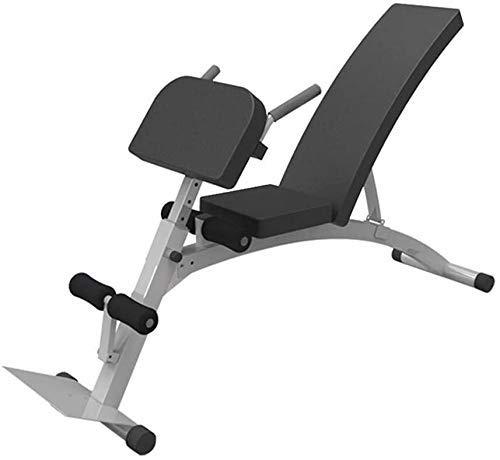 GANE Bancos de Pesas Ajustables 90 ° Flat Sit Up Fitness Training para Entrenamiento de Cuerpo Completo Equipo de Fitness de Ejercicio Multiusos con inclinación Plana y Trabajo Pesado