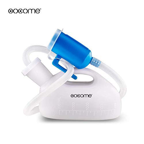 OOCOME Male Urine Bottle Portable Urinal for Men Reusable Pee Bottle Thicken Men's Potty 2000 ml 45.2