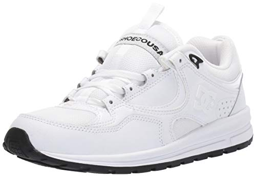DC Women's Kalis LITE Skate Shoe, White/White/Black, 5.5 M US