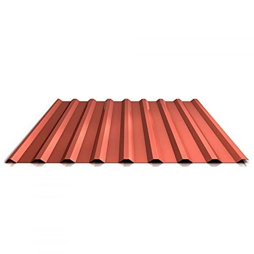 Trapezblech | Profilblech | Dachblech | Profil PS20/1100TRA | Material Stahl | Stärke 0,50 mm | Beschichtung 25 µm | Farbe Kupferbraun