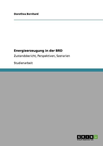 Energieerzeugung in der BRD: Zustandsbericht, Perspektiven, Szenarien