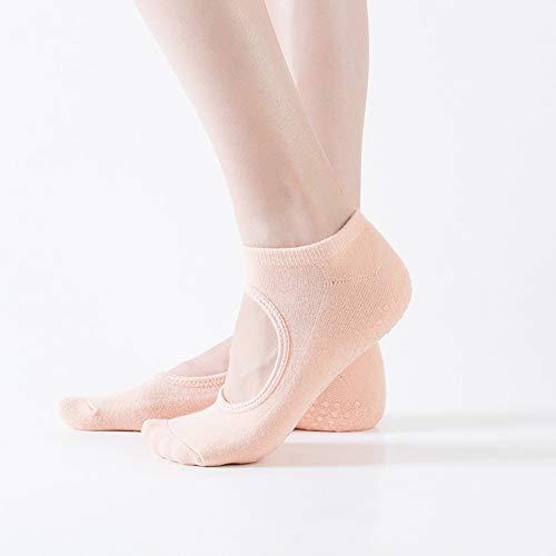 LLUVIAXHAN Non Slip/Skid Yoga-Socken für Frauen, Pilates, Barre, Ballett, Trampoline, Bikram,Nude Color
