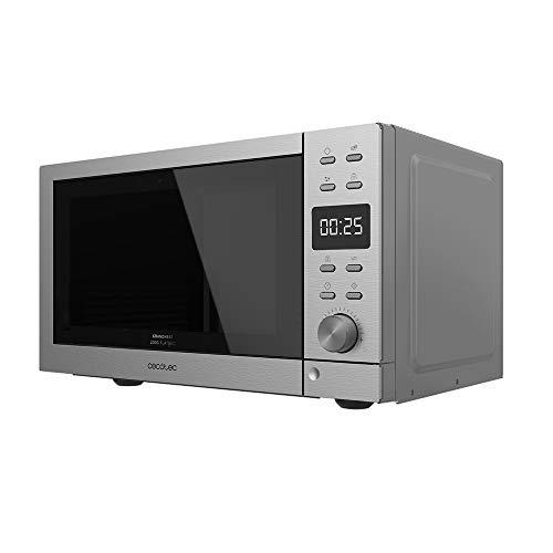 Cecotec Microondas sin plato digital GrandHeat 2000 Flatbed Steel. 700W, Capacidad 20 Litros, 8 Funciones preconfiguradas, Quick Start