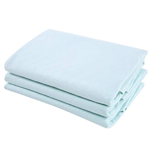 3-teilige wiederverwendbare Pflegeunterlagen für Erwachsene, waschbare Inkontinenz-Bettpolster mit hoher Absorption bei Inkontinenz (80 * 90 cm / 31,4 * 35,4 Zoll)