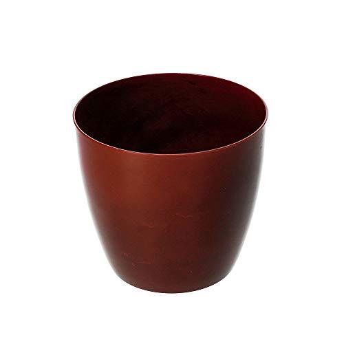 KADAX Blumentopf, Pflanzkübel, runder Blumenkübel aus Kunststoff, Matte Topf für Kakteen, Farne, glänzender Übertopf für Balkon, Wohnung und Terrasse (⌀ 18cm, Rot)