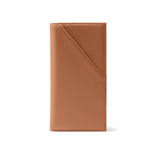 Leatherology Cognac Travel Passport Wallet, Document Holder Organizer, RFID Available, Full Grain Leather