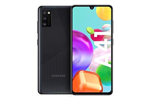 Samsung Galaxy A41 Android Smartphone ohne Vertrag, 3 Kameras, 6,1 Zoll Super AMOLED Bildschirm, 64 GB/4 GB RAM, Dual SIM, Handy in schwarz, deutsche Version