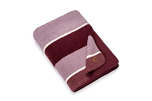 UGG Rosaleen Sherpa Fleece Striped Blanket