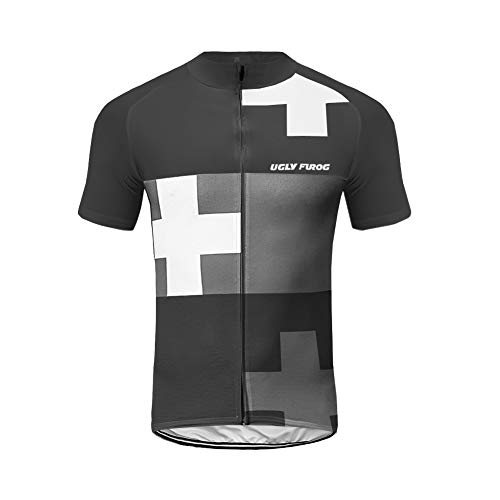 Uglyfrog Bike Wear 2019 Nouveau Tenue VTT Maillot de Cyclisme Vêtements Maillots Homme Manche Courte Style d'été