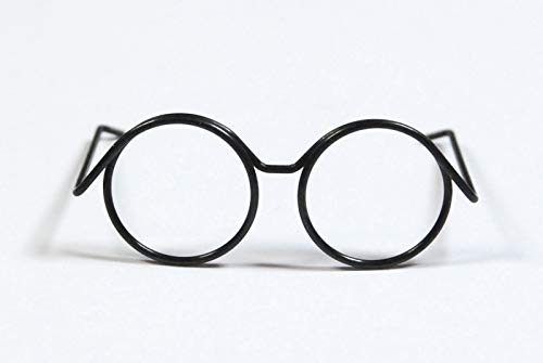 celloexpress Pack of 10-3.1cm x 1.4cm - Black Mini Spectacles for Dolls & Soft Toys Glasses Accessory