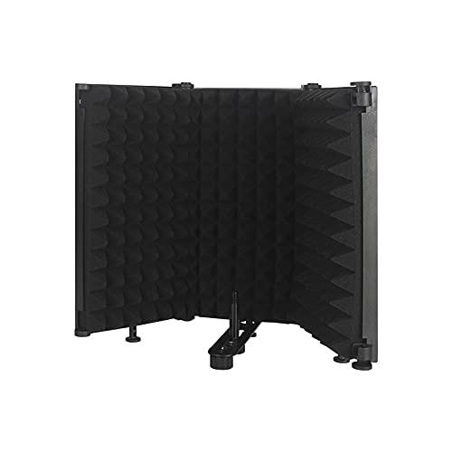 Queenser Painel de gravação vocal dobrável ajustável com absorção de som e isolamento acústico portátil Placa à prova de som