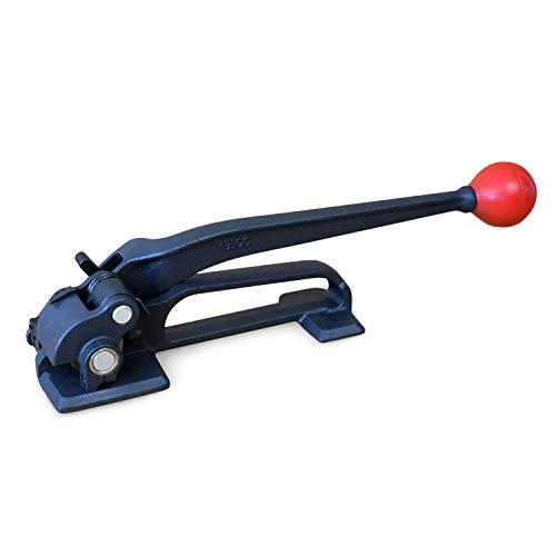 """IDL Packaging S-290 Steel Strapping Tensioner for 3/8"""" to 3/4"""" Width Strapping — Heavy Duty Banding Tool for High Tensile Packaging — Feed Wheel Strapping Tool with Long Service Life"""