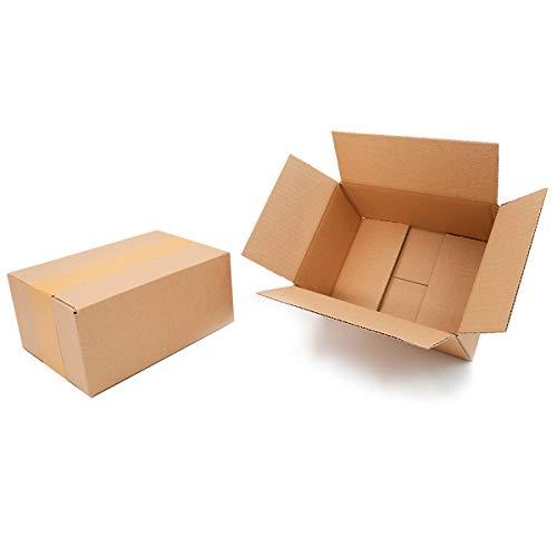 50 Faltkartons 200x150x90mm braun KK 10 1 wellig rechteckig Versandkarton für kleine Waren | DHL Päckchen S | DPD XS | GLS XS | H Päckchen | kleine Versandkartons
