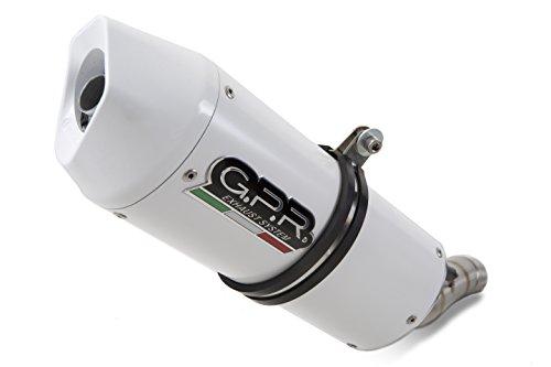 GPR Auspuff für Yamaha XT 125R–X 2005/12Terminal zugelassen mit Verbindungsstück Serie Albus Ceramic