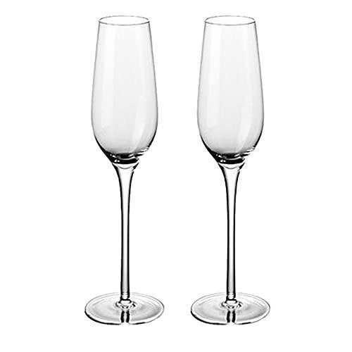 Paquete De 2 Copas De Vino Tinto De Cristal, Copas Champan, Copas Para Vinos,Copas Para Vino Blanco Embalaje De Regalo Para Bodas, Aniversarios, Día Del Padre, Cumpleaños,225ML